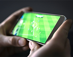 Watching sport on a mobile device